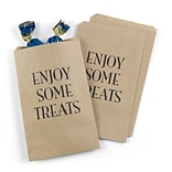 Hortense B. Hewitt Enjoy Some Treats Treat Bags, Kraft, 25 Pack (42256ST)