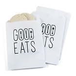Hortense B. Hewitt Good Eats Treat Bags, White, 25 Pack (42255ST)