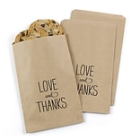 Hortense B. Hewitt Love and Thanks Treat Bags, Kraft, 25 Pack (42274ST)
