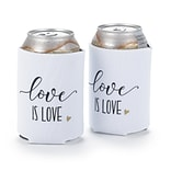 Hortense B. Hewitt Love is Love Can Coolers, White, Set of 2 (55124ST)