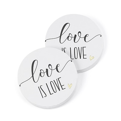 Hortense B. Hewitt Love is Love Coaster, 25 Pack (55127ST)