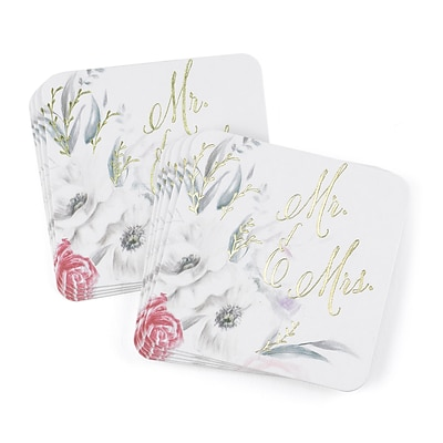 Hortense B. Hewitt Ethereal Floral Coaster, 25 Pack (55132ST)