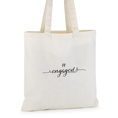 Hortense B. Hewitt #engaged Tote Bag, Cream Jute (55143ST)