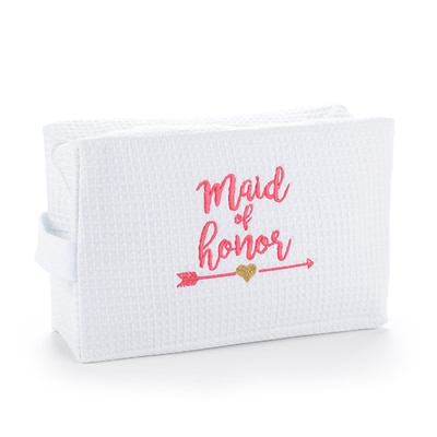Hortense B. Hewitt Wedding Party Tribal Maid of Honor Cosmetic Bag, White (55149ST)
