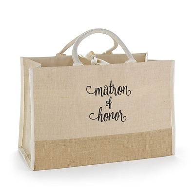 Hortense B. Hewitt Matron of Honor Natural Jute Tote Bag (55173ST)