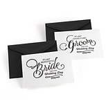 Hortense B. Hewitt Beautiful Couple Wedding Day Card, Set of 2 (54827ST)