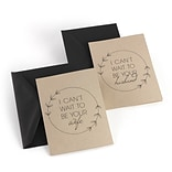 Hortense B. Hewitt Marry Me Wedding Day Card Set, Kraft, 2 Count (54828ST)