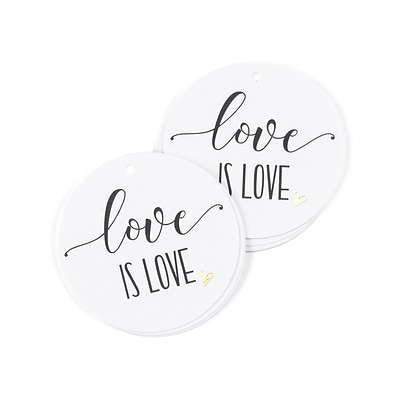 Hortense B. Hewitt Love is Love Favor Tag, 25 Pack (55129ST)