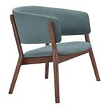 Zuo Chapel Polyester  Lounge Chair Blue Pack of 2 100155