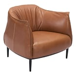 Zuo Julian Leatherette Occasional Chair Coffee 98086