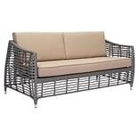 Zuo Trek Beach Sofa Gray & Beige (703827)