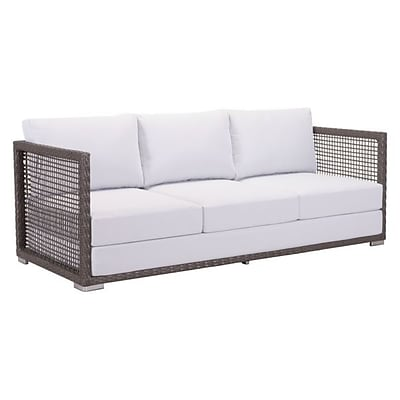 Zuo Coronado Sofa Cocoa & Light Gray (703823)