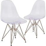 Flash Furniture Ghost Chair Gold Base (2FH130CPC1)