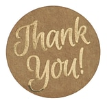 Great Papers!® Foil Thank You Stickers on Kraft Paper, 1.57, 250 per roll (24261429)