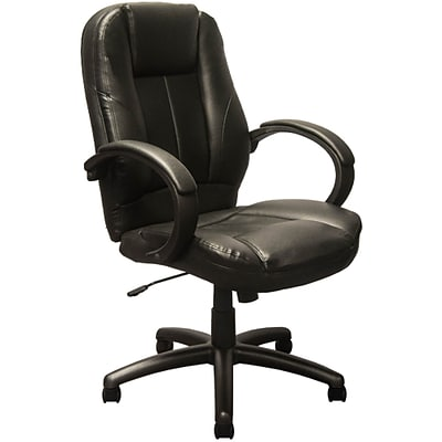 newest 14bcb 98e5c Advantage Extended Mid-back Black Leather Executive Office Chairs (KB-9602B)