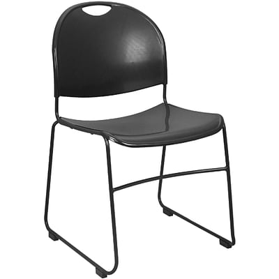 Advantage Black Plastic Stack Chair Black Frame, 2 Pack (ADV-HDSTK-BLK-2)