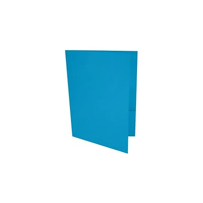 LUX 9 x 12 Presentation Folders 100/Pack, Pool (LUX-PF-102-100)