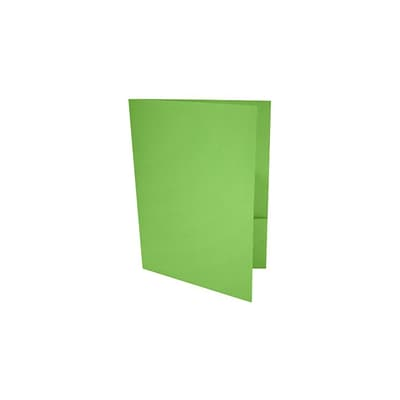 LUX 9 x 12 Presentation Folders 25/Pack, Limelight (LUX-PF-101-25)