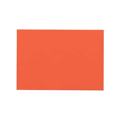 LUX A7 Flat Card (5 1/8 x 7) 50/Pack, Tangerine (4040-112-50)
