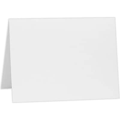 LUX A1 Folded Card (3 1/2 x 4 7/8) 250/Pack, 80lb. Bright White (A1FW-250)