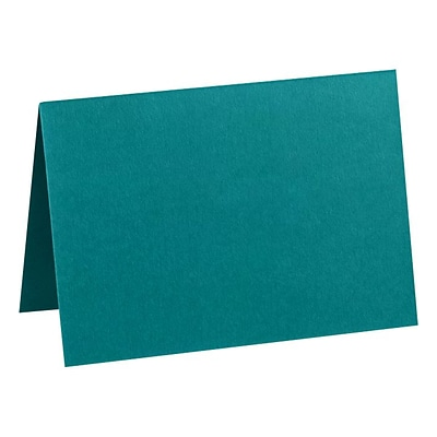 LUX A2 Folded Card (4 1/4 x 5 1/2) 50/Pack, Teal (EX5020-25-50)