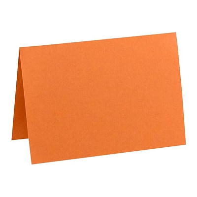 LUX A7 Folded Card (5 1/8 x 7 ) 50/Pack, Mandarin (EX5040-11-50)