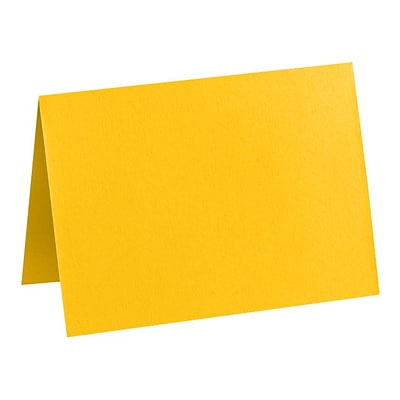 LUX A2 Folded Card (4 1/4 x 5 1/2) 50/Pack, Sunflower (EX5020-12-50)