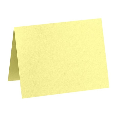 LUX A2 Folded Card (4 1/4 x 5 1/2) 50/Pack, Lemonade (EX5020-15-50)
