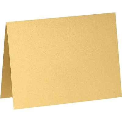 LUX A7 Folded Card (5 1/8 x 7) 50/Pack, Gold Metallic (PGCST970-50)