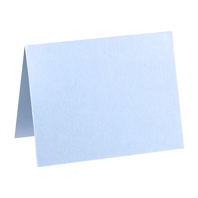 LUX A7 Folded Card (5 1/8 x 7 ) 50/Pack, Baby Blue (EX5040-13-50)