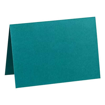 LUX A7 Folded Card (5 1/8 x 7 ) 50/Pack, Teal (EX5040-25-50)