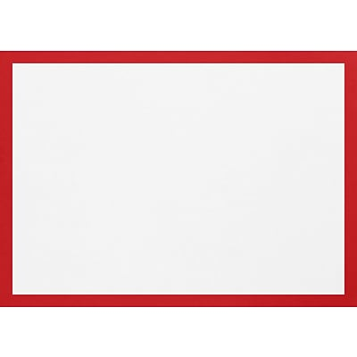 LUX A1 Border Flat Card (3 1/2 x 4 7/8) 50/Pack, Ruby Red Border (BC4010-18-50)