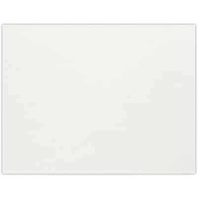 LUX A2 Flat Card (4 1/4 x 5 1/2) 50/Pack, Natural White - 100% Cotton (4020-SN-50)