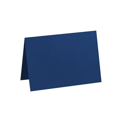 LUX A7 Folded Card (5 1/8 x 7) 50/Pack, Navy (LUX-5040-103-50)
