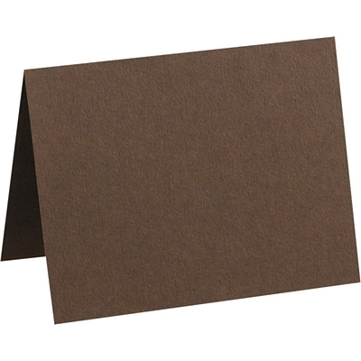 LUX A6 Folded Card (4 5/8 x 6 1/4) 500/Pack, Chocolate (EX5030-17-500)