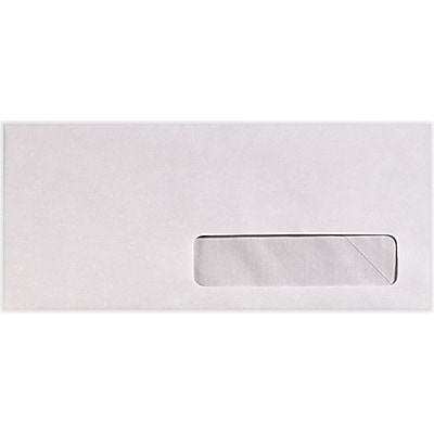 LUX #10 Right Side Window Envelopes (4 1/8 x 9 1/2) 50/Pack, 24lb. Bright White (82624-50)