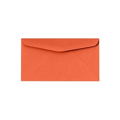 LUX #6 3/4 Regular Envelopes (3 5/8 x 6 1/2) 250/Pack, Bright Orange (WS-0404-250)