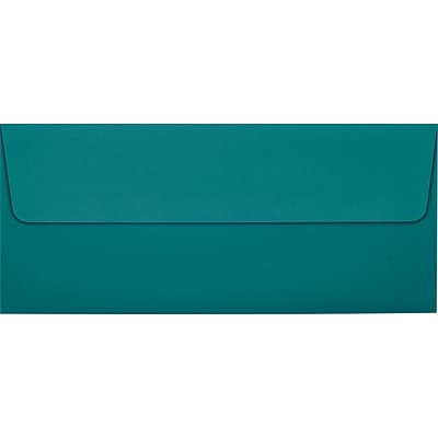 LUX #10 Square Flap Envelopes (4 1/8 x 9 1/2) 50/Pack, Teal (EX4860-25-50)
