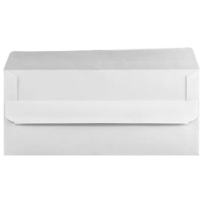 LUX #10 Square Flap Envelopes (4 1/8 x 9 1/2) 50/Pack, White w/ Simple Seal (28725-50)