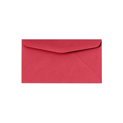 LUX #6 3/4 Regular Envelopes (3 5/8 x 6 1/2) 50/Pack, Holiday Red (WS-0406-50)