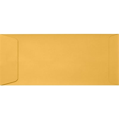 LUX #10 Open End Envelopes (4 1/8 x 9 1/2) 50/Pack, 24lb. Brown Kraft (7716-50)