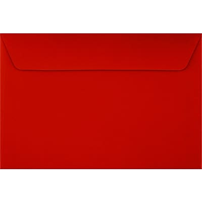 LUX 6 x 9 Booklet Envelopes 50/Pack, Holiday Red (FE-4220-15-50)