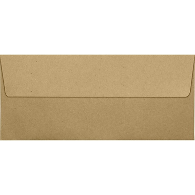 LUX #10 Square Flap Envelopes (4 1/8 x 9 1/2) 50/Pack, Grocery Bag (4860-GB-50)