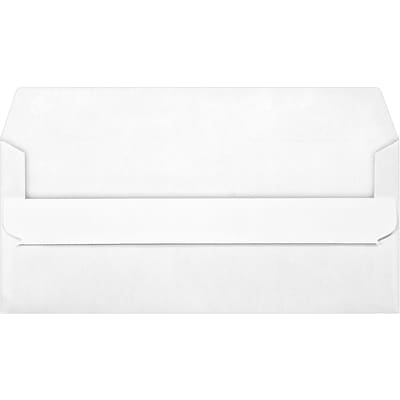 LUX #10 Window Envelopes (4 1/8 x 9 1/2) 500/Pack, White w/ Simple Seal (28727-500)