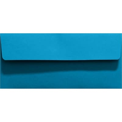 LUX #10 Square Flap Invitation Envelopes (4 1/8 x 9 1/2) 50/Pack, Pool (LUX-4860-102-50)