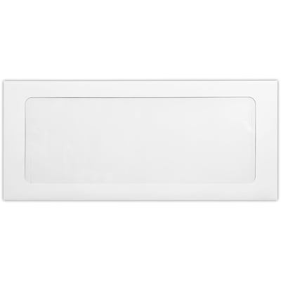LUX #10 Full Face Window Envelopes (4 1/8 x 9 1/2) 50/Pack, 28lb. Bright White (FFW-10-50)