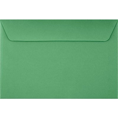 LUX 6 x 9 Booklet Envelopes 50/Pack, Holiday Green (FE-4220-12-50)
