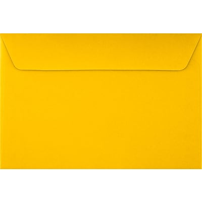 LUX 6 x 9 Booklet Envelopes 50/Pack, Sunflower (EX4820-12-50)