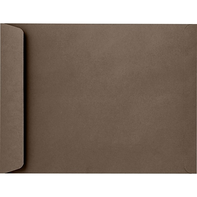 LUX 9 x 12 Open End Envelopes 50/Pack, Chocolate (EX4894-17-50)