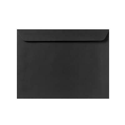 LUX 9 x 12 Booklet Envelopes 250/Pack, Black Linen (4899-BLI-250)